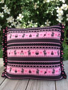 Kussen Black and pink